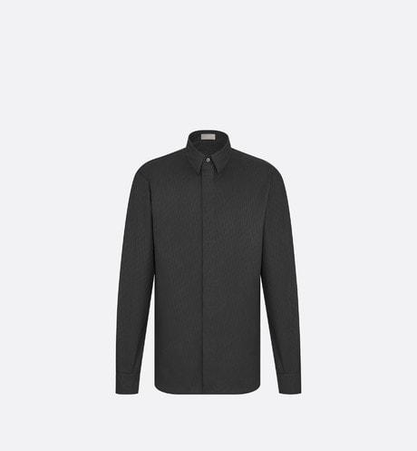黑色棉质提花布 Dior Oblique 礼服衬衫 aria_frontView